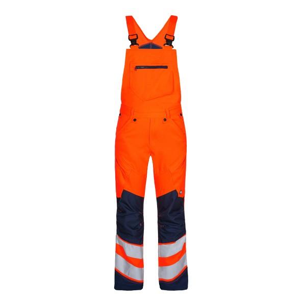 Herren Sicherheits-Latzhose FE Engel Safety 3544-314 Orange/Blue Ink 10165