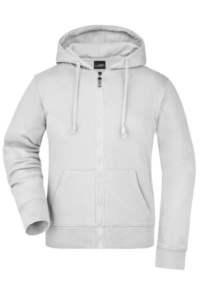 Kapuzenjacke James&Nicholson Ladies Hooded Jacket JN053 white