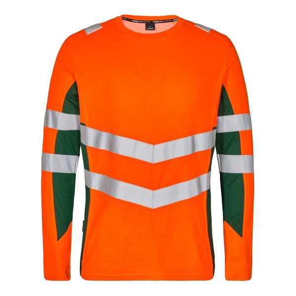 Herren Sicherheitsshirt langarm FE Engel Safety 9545-182 Orange/Gruen 101
