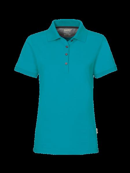 Damen Poloshirt kurzarm Hakro Cotton-Tec 214 smaragd 012_1