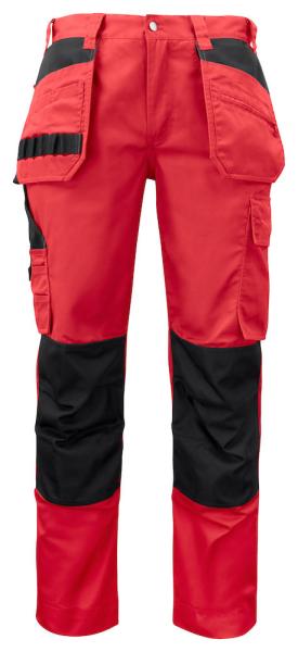 Arbeitshose ProJob 5531 mit Knieverstaerkung und Haengetaschen moderner Schnitt 645531 Rot 35