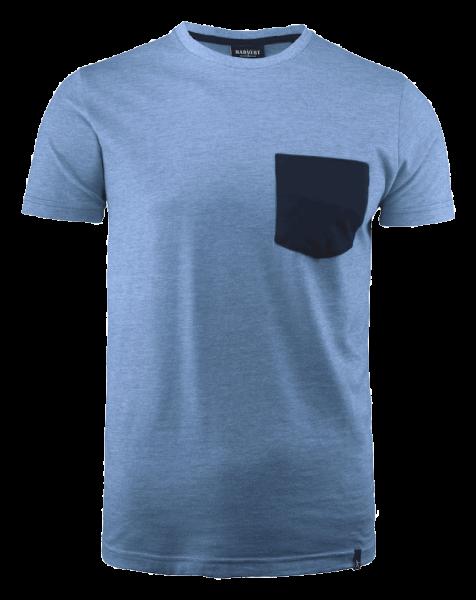 Herren T-Shirt kurzarm Harvest Portwillow 2114008 Hellblaumeliert 506_1