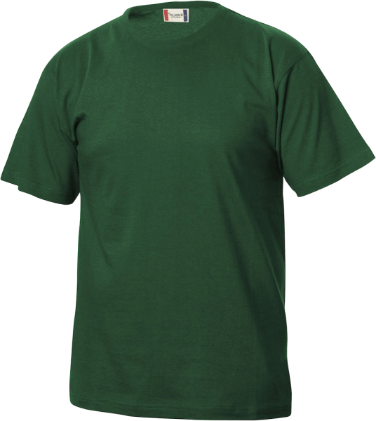 Kinder T-Shirt kurzarm Clique Basic-T Junior 029032 Flaschengruen 68_1