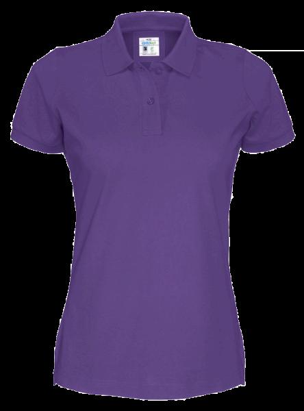 Damen Poloshirt kurzarm Cottover Pique SS 141005 Purple 885