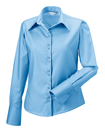 Damen Bluse langarm Russell Ultimate Non-Iron R-956F-0 Bright Sky_1