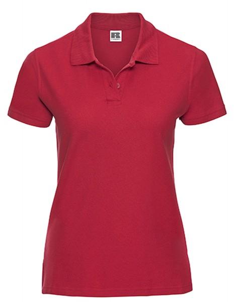 Damen Poloshirt kurzarm Russell Ultimate Cotton R-577F-0 Classic Red