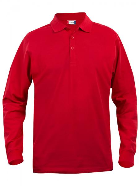 Poloshirt langarm Clique Basic Polo L/S 028233 Rot 35