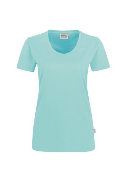 Damen T-Shirt V-Neck kurzarm Hakro High Performance Mikralinar® PRO 182 hp eisgruen 459