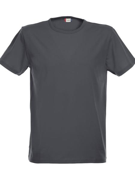 T-Shirt Kurzarm Clique Stretch-T 029344 Anthrazit meliert 955