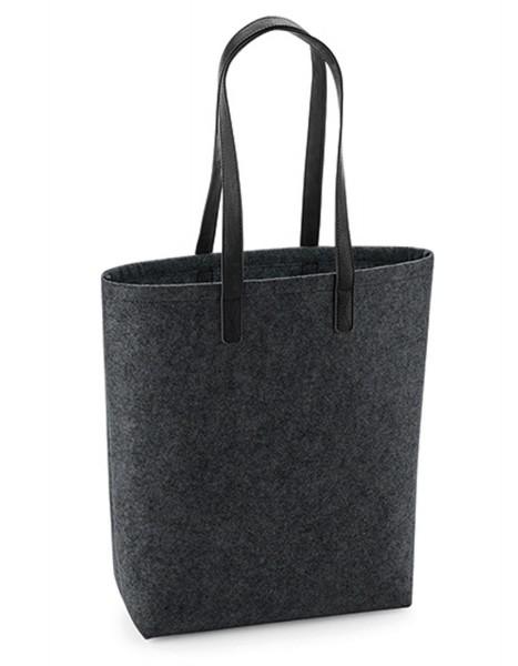 Freizeittaschen BagBase Premium Felt Bag BG738 Charcoal Melange/Black