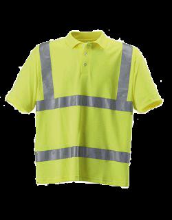 Herren Poloshirt kurzarm Korntex Hi-Viz EN ISO 20471 KX070 Signal Yellow