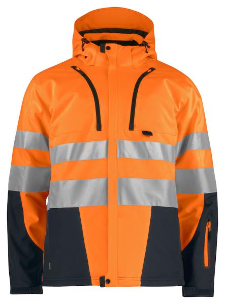 Sicherheitsjacke ProJob 6420 gefuettert EN ISO 20471 Klasse 3/2 646420 Orange/Schwarz 1799
