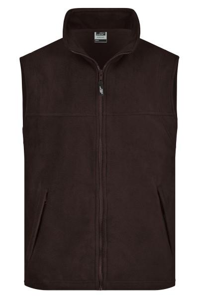 Fleeceweste James&Nicholson Fleece Vest JN045 brown