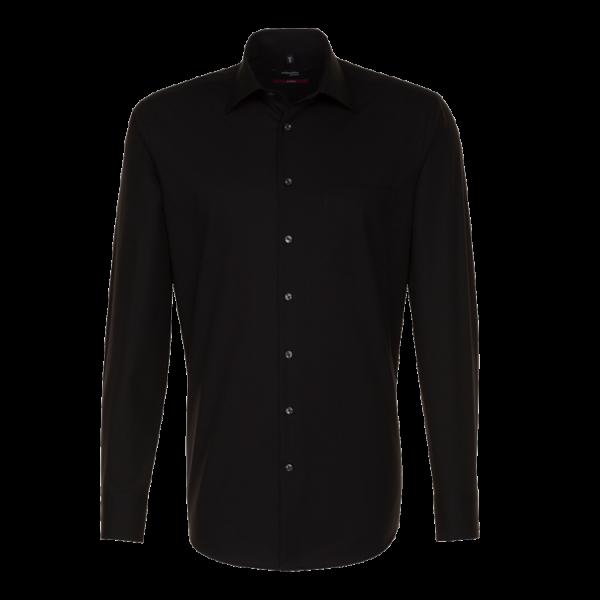 Herren Hemd langarm Seidensticker Modern 1000 schwarz 84