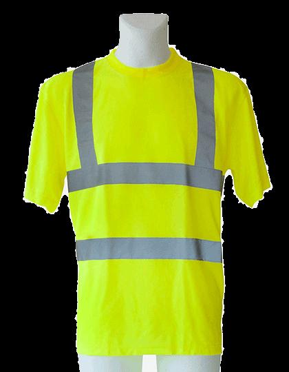 Herren T-Shirt kurzarm Korntex Hi-Viz EN ISO 20471 KXS Signal Yellow_1