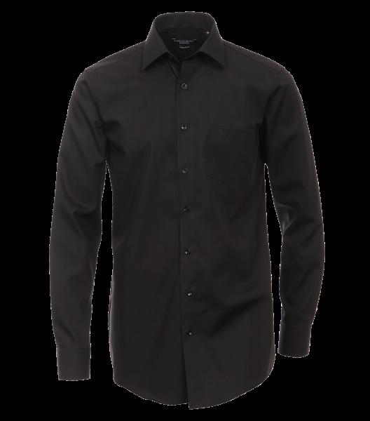 Herren Hemd langarm CasaModa Chambray Comfort Fit 69er Arm 6069 schwarz 8000_1