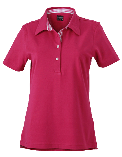 Damen Poloshirt kurzarm James&Nicholson Plain JN969 Purple Purple White_1