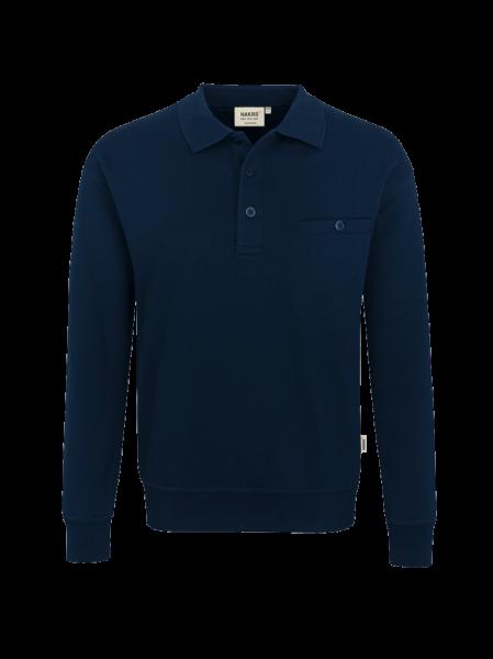 Herren Sweatshirt mit Brusttasche und Kragen Hakro Premium 457 tinte 034_1