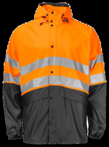Herren Sicherheits Regenjacke Projob 6431 EN ISO 20471 KLASSE 3 646431 Orange/Schwarz 1799_1