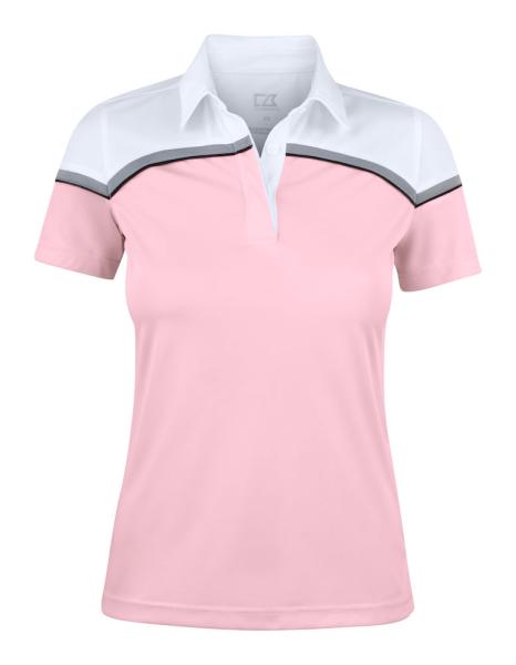 Damen Poloshirt kurzarm Cutter&Buck 354429 Pink/White 21000