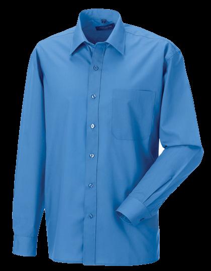 Herren Hemd langarm Russell Polycotton Poplin R-934M-0 Corporate Blue_1