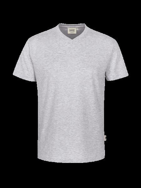Herren T-Shirt V-Neck kurzarm Hakro Classic 226 ash meliert 024_1