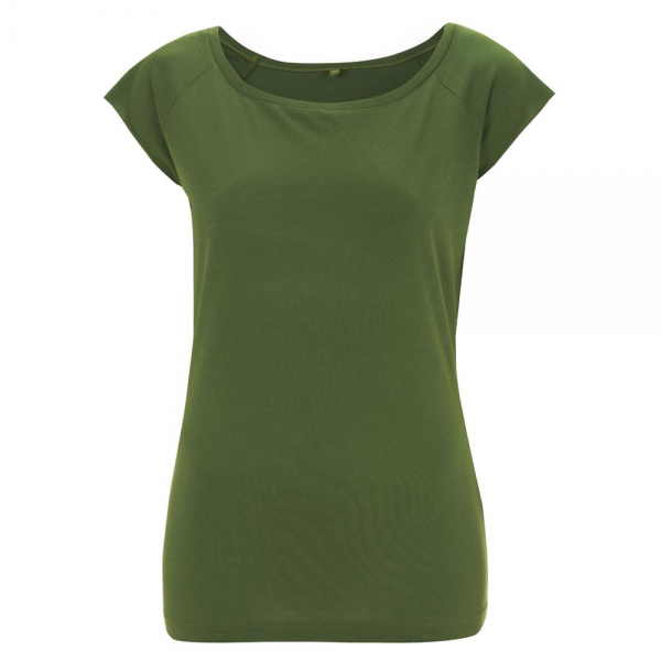 Damen T-Shirt kurzarm Continental Clothing RAGLAN Bamboo N43 Leaf Green