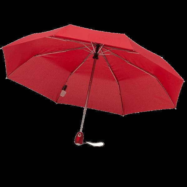 Regenschirm FICTION 44800 Taschenschirm-Doppelautomatik Auf/Zu kirschrot