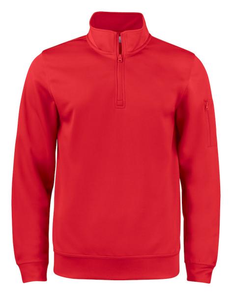 Pullover mit Zipper Clique Basic Active Half Zip 021013 Rot 35