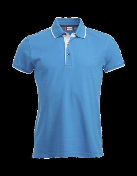Herren Poloshirt kurzarm Clique Seattle 028242 Hellblau/Weiss 510_1