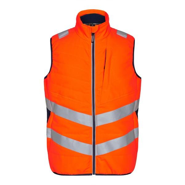 Herren Sicherheits-Stepp-Innenweste FE Engel Safety 5159-158 Orange/Blue Ink 10165