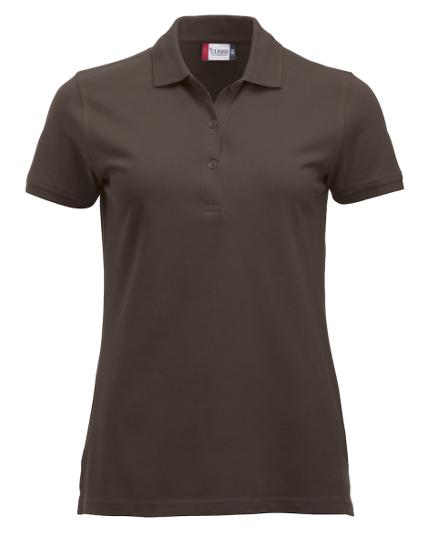 Damen Poloshirt kurzarm Clique Classic Marion S/S 028246 Dunkelmocca 825_1