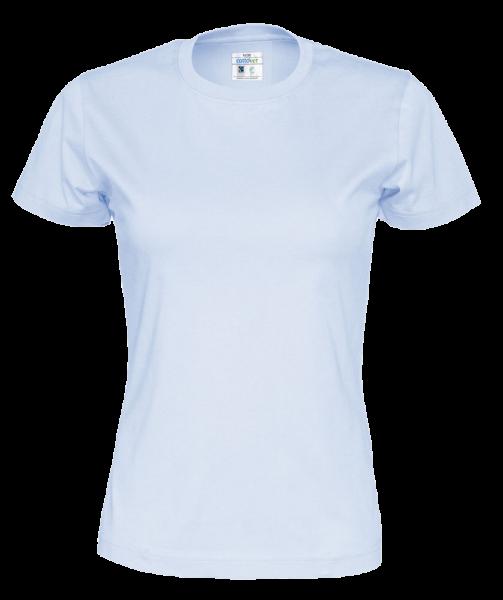 Damen T-Shirt kurzarm Cottover Jersey 141007 Sky blue 725