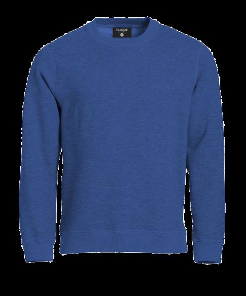 Unisex Pullover Clique Classic Roundneck 021040 Blaumeliert 565_1