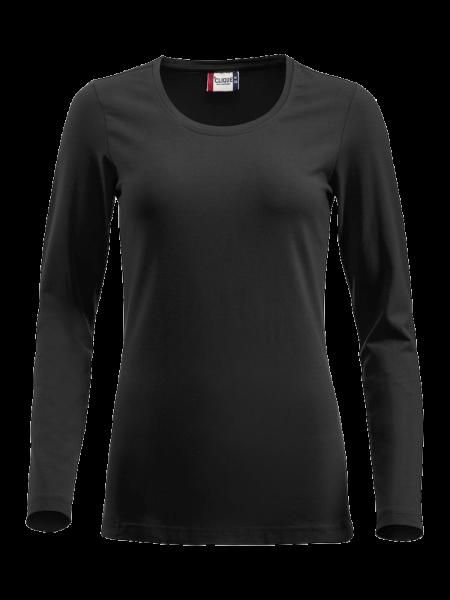 Damen T-Shirt langarm Clique Carolina L/S 029319 Schwarz 99_1