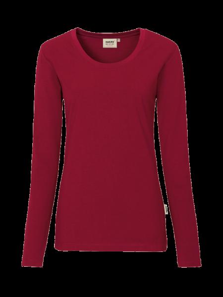 Damen T-Shirt langarm Hakro Performance 179 weinrot 017_1