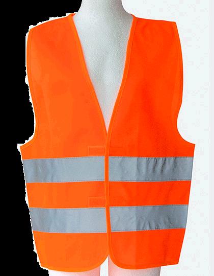 Kinder Sicherheitsweste Korntex KW Signal Orange_1