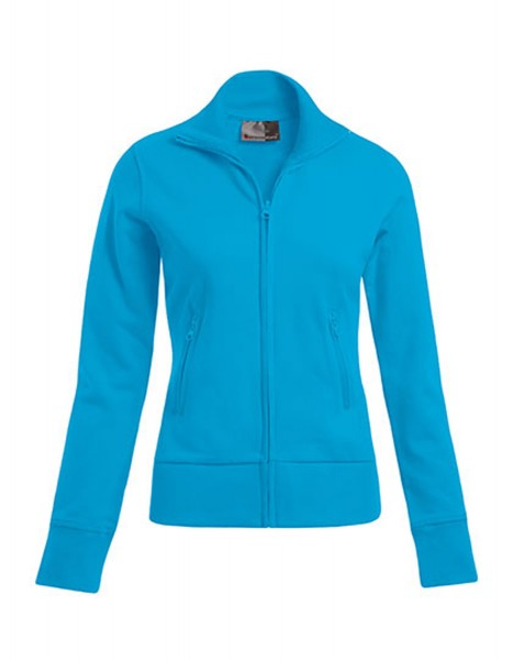 Damen Sweatjacke Promodoro Stand-Up Collar 5295 Turquoise