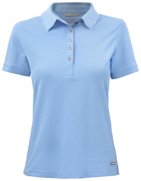 Damen Poloshirt kurzarm Cutter&Buck 354419 Light Blue 509