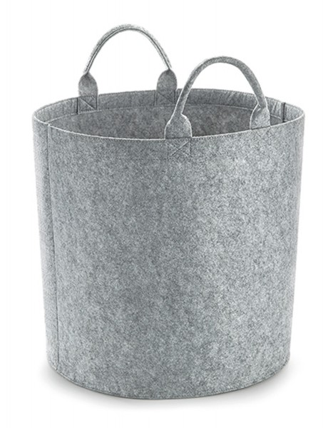 Filzkorb BagBase Felt Trug (S) BG728 Grey Melange