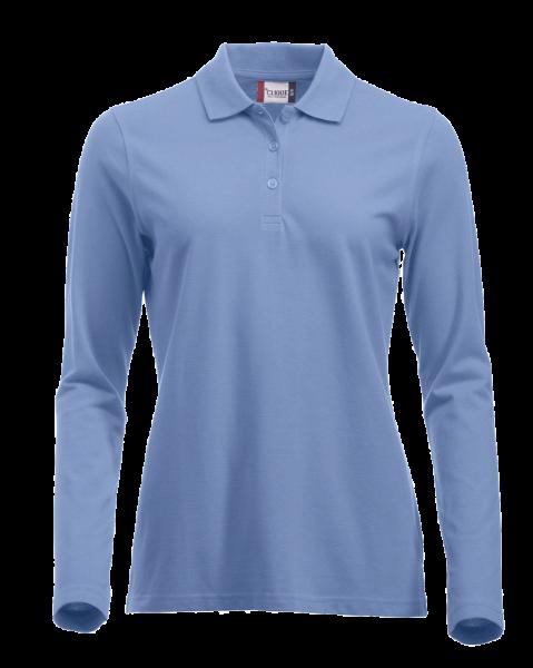 Damen Poloshirt langarm Clique Classic Marion L/S 028247 Hellblau 57_1