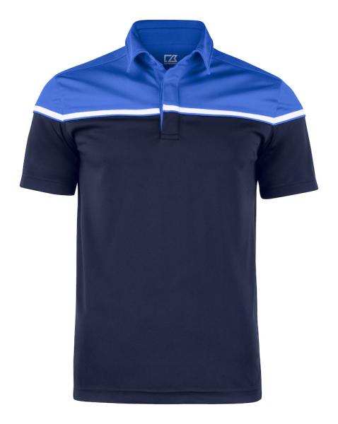 Herren Poloshirt kurzarm Cutter&Buck 354428 Dark Navy/Royal 58055
