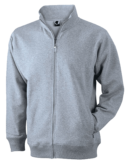 Herren Fleecejacke James&Nicholson Jacket JN046 Grey Heather_1