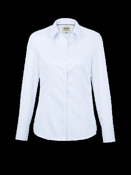 Damen Bluse langarm Hakro Business 106 himmelblau 025_1
