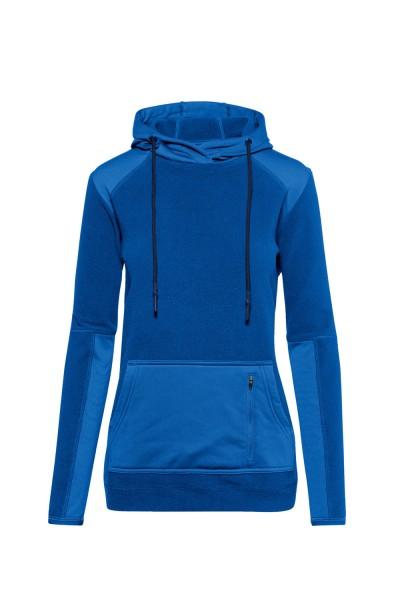 Damen Kapuzen-Stretchfleece Hakro Morris 243 royalblau 010