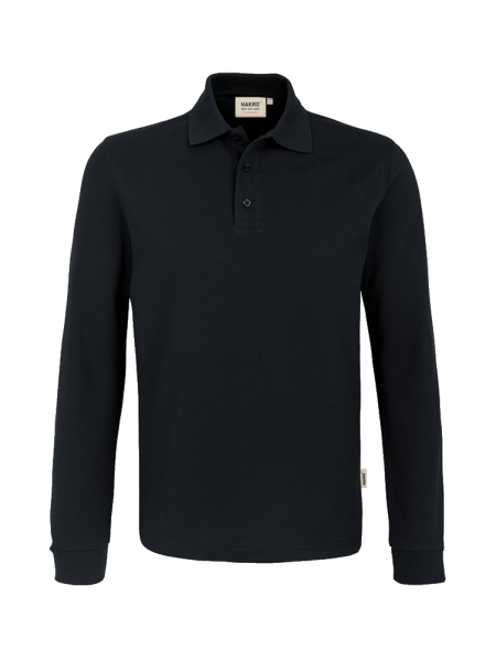 Herren Poloshirt langarm Hakro Performance 815 schwarz 005_1