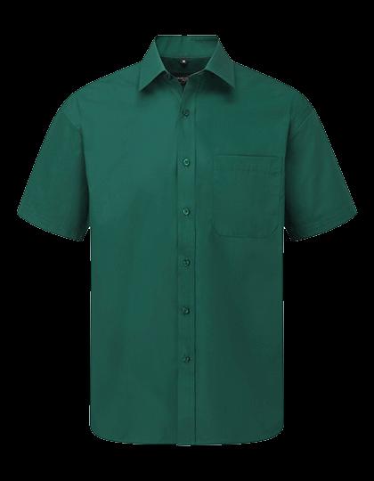 Herren Hemd kurzarm Russell Polycotton Poplin R-935M-0 Bottle Green_1