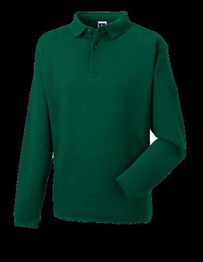 Herren Pullover Russell Workwear-Sweatshirt mit Kragen und Knopfleiste R-012M-0 Bottle Green_1