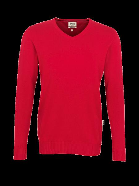Herren Pullover V-Neck Hakro Premium-Cotton 143 rot 002_1