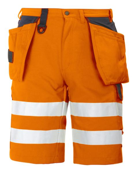 Sicherheitsshorts ProJob 6503 mit Haengetaschen EN ISO 20471 Klasse 2 646503 Orange/Schwarz 1799